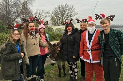 Interns get festive for Chestnut Tree House