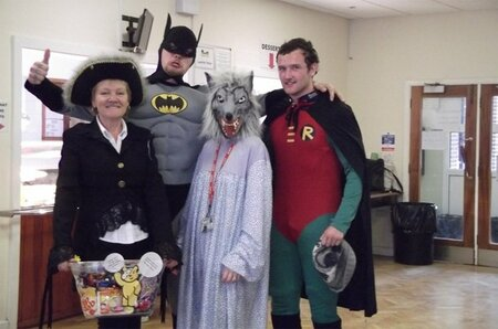 Plumpton College staff and students dress up for Children in Need