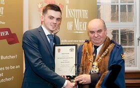 Plumpton College Butchery Apprentice Presented with National Award