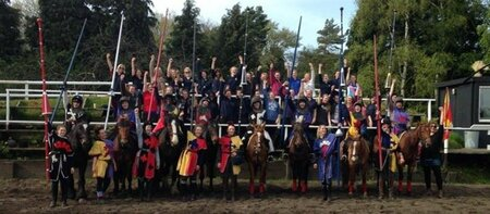 Plumpton Equine students become knights for a day