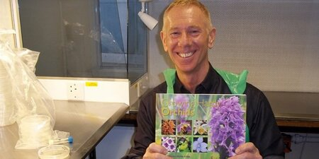 Brighton based orchid expert John Haggar's book published