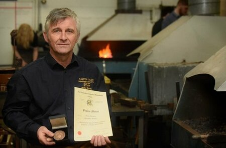 Plumpton College now proudly boasts of a Master Blacksmith among its well qualified staff