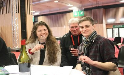 Students Judge Wine Competition