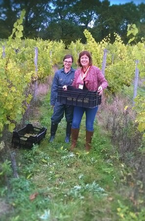 Gillian Mitchell, Deputy Leader Brighton and Hove City Council with first year BSc Viticulture & Oenology student, Georgie Williams