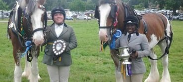 Students and shire horses have a successful show at Cranleigh